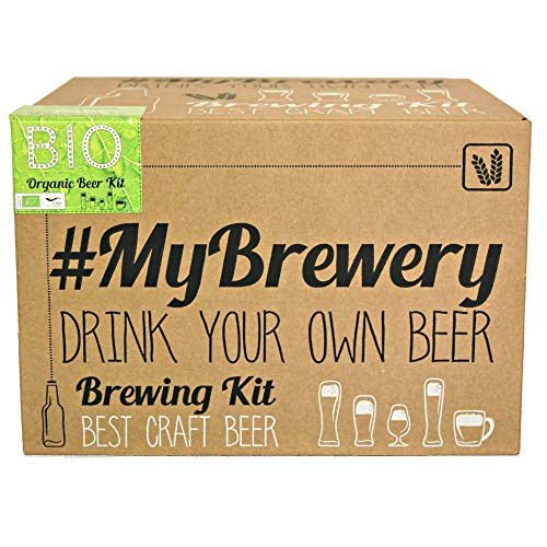 #Cervezanía Kit per fermentazione Birra Artigianale | Ricetta Biologique Pilsen Ale | 5 Litri | Malto macinato e Luppolo Fresco | La Tua Birra a casa