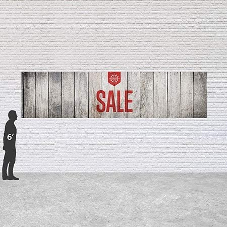 16x4 Sale Nautical Wood Heavy-Duty Outdoor Vinyl Banner CGSignLab