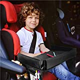 Kid Travel Tray - Travel Accessories - for - Kids Toddler Car Seat Lap Tray - Bonus - Car Backseat Organizer - and - Cooler Bag - Toddler Travel Activity Tray - Lap Table for Car Seat - Child Snack Play Tray