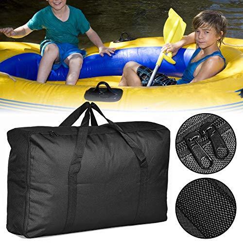 Gran bolsa de almacenamiento para kayak hinchable, bolsa de almacenamiento de lona Oxford portátil, gran capacidad para barcos hinchables, kayak, accesorios de barco (negro)