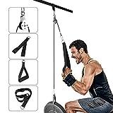 Elikliv DIY Poleas para Entrenamiento de Músculo de Brazos, Accesorio de Entrenamiento para Antebrazos DIY Sistema de Cuerda para Tríceps y Bíceps en Gimnasio y Casa 1,8m