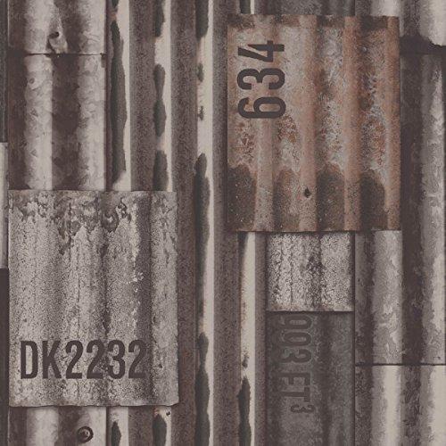 Papel pintado no tejido UGEPA chapa ondulada, Color, J87508