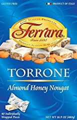 40 pieces of Almond Torrone Individually wrapped in foil, no small boxes Special Italian confectionary Made in Italy