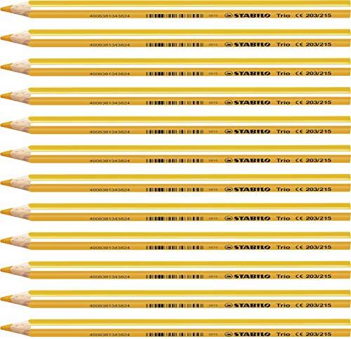 Matita colorata triangolare - STABILO Trio thick - Confezione da 12 - Giallo/Arancio