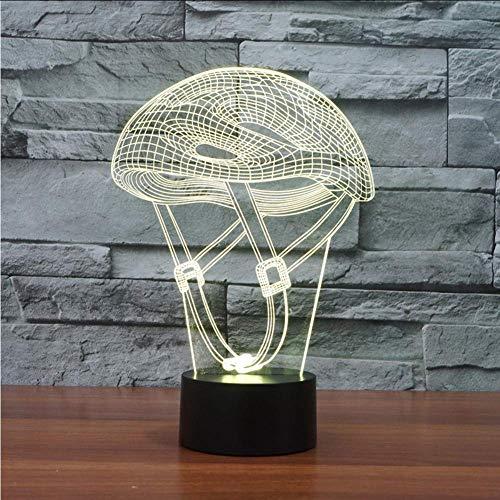 3D Led Mountainbike Helm Nachtlampjes Creatieve Ambient Lamp Sport Bureau Lamp Thuis Verlichting Kleuren veranderen Luminaria Kids Geschenken