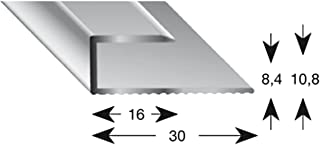 comprar comparacion kügele gleitabsc hluss Perfil U aluminio plata anodizado 8/1000mm, 1pieza, 11080S 100