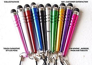 سي اند سي بايسبول نمط ستايلس ستايلس لمس سعة أقلام عالمية لاجهزة ابل فون 4،5،6، آيبود، ايباد، جميع الهواتف الذكية 3.5 مم (1...