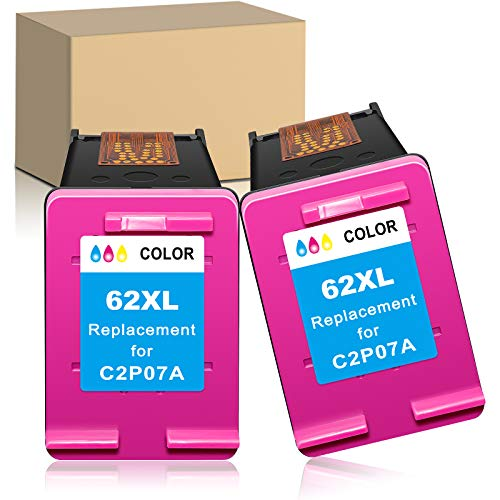 LUCASCOLO Remanufactured Ink Cartridge Replacement for HP 62XL 62 XL Color for HP Envy 5540 55415542 5543 5544 5545 5547 5548 5549 5640 5642 5643 5644 5660 5663 5664 5665 7640 7643 7644 7645 Printer