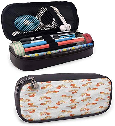 KLKLK Mäppchen Fish Small Pencil case Goldfish Freshwater Aquarium Zipper Pencil case Cute Accessories