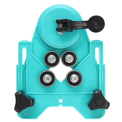 ランフィー 調整可能な 4mm-80mm ダイヤモンドドリルビット穴鋸カッターガイド吸盤ベースロケータ