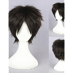 Wigs European Brown Hair 12inch Short Shingeki no Kyojin Eren Jäger Cosplay Wig:Tudosobrediabetes