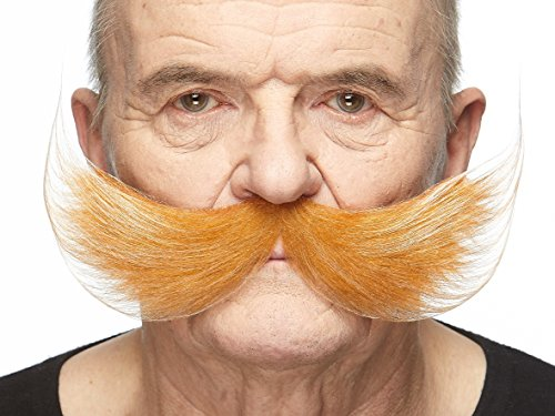 Mustaches Self Adhesive Fake Mustache, Novelty, Fisherman's False Facial Hair, Costume Accessory for Adults, Honey with White Color