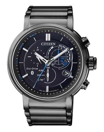 Citizen heren chronograaf solar horloge met roestvrij stalen armband BZ1006-82E
