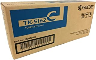 Kyocera 1T02NTCUS0 Model TK-5162C Cyan Toner Kit For use with Kyocera ECOSYS P7040cdn A4 Color Network Laser Printer, Up to 12000 Pages Yield at 5% Average Coverage