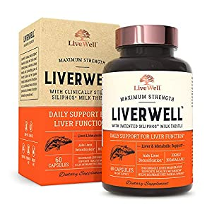 LiverWell Liver Cleanse & Detox, Regeneration, Metabolic Support - Highly Biovailable Patented Milk Thistle Extract + N-Acetyl Cysteine + Alpha Lipoic Acid + Zinc + Selenium