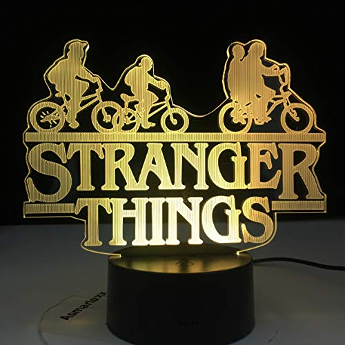Lampada Da Illusione 3D Led Night Light Stranger Things Serie Televisiva Americana 7 Colori Che Cambiano Touch Sensor Camera Da Letto Lampada Da Tavolo Regalo