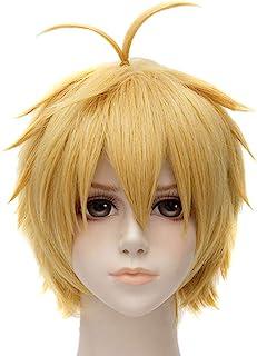 Nunubee Meliodas Golden Blond Short Straight Fancy Party Cosplay Anime Full Hair Wigs