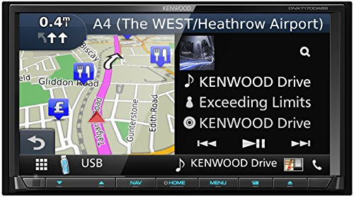 'Kenwood dnx-7170dabs Navigations System 7mit DVD und DAB +, Touch Screen Clear Resistive, Monitor motorisiert, Beleuchtung variabel, integriertes Bluetooth, Mehrfarbig