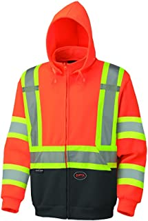 Pioneer V1060350U Hi-Vis Polyester Fleece Hoodie - Orange (Large)