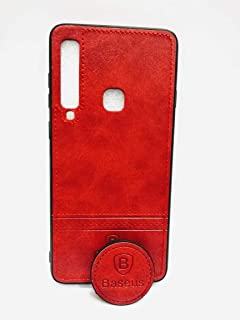 Baseus mobile Back cover for the Samsung A9-2019 with a hand holder and base- Red