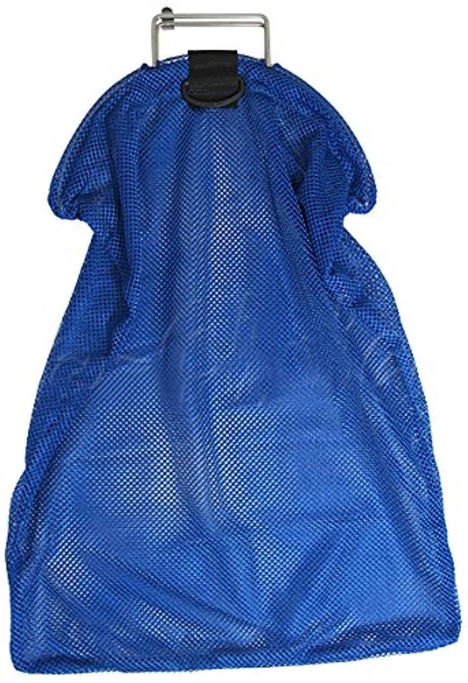 についてお金ラビリンススピアフィッシング 5mmのステンレススチール製ワイヤーハンドル バッグ ネット ブルー メッシュ