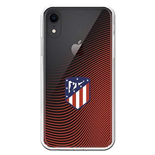 Funda para iPhone XR Oficial del Atlético de Madrid - Ondea Rojo para Proteger tu móvil. Carcasa para iPhone de Silicona Flexible con Licencia Oficial de Atlético de Madrid