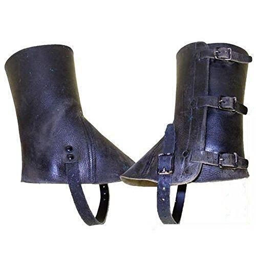 Armeeverkauf 1 Paar CH Armee Leder Gamaschen,Ledergamaschen,schwarz