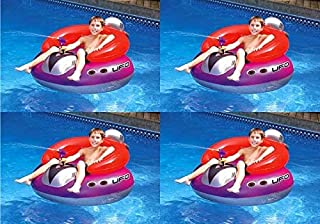 4) Swimline 9078 Swimming Pool UFO Squirter Toy Inflatable Lounge Chair Floats