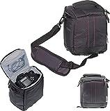 Navitech Bolsa Negro para Cámara DSLR SLR Compatible con la Panasonc Lumix DC-FZ82 Digital Camera