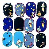 Toppa termoadesiva con motivo astronauta spaziale ricamato, motivo pianeta, decorazione di dimensioni assortite, per jeans, giacche, vestiti, borse, scarpe, cappelli per bambini e adulti