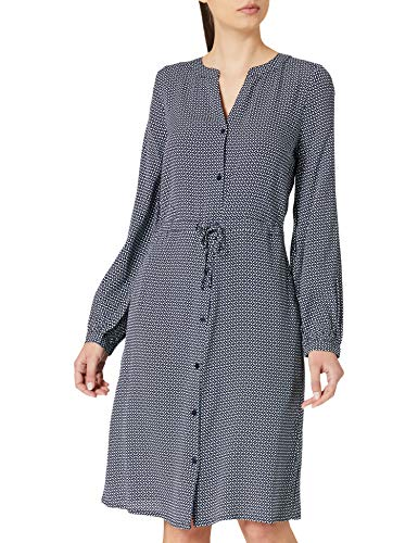 TOM TAILOR Damen 1024820 Feminine Kleid, 26428-Navy Geometrical Design, 36