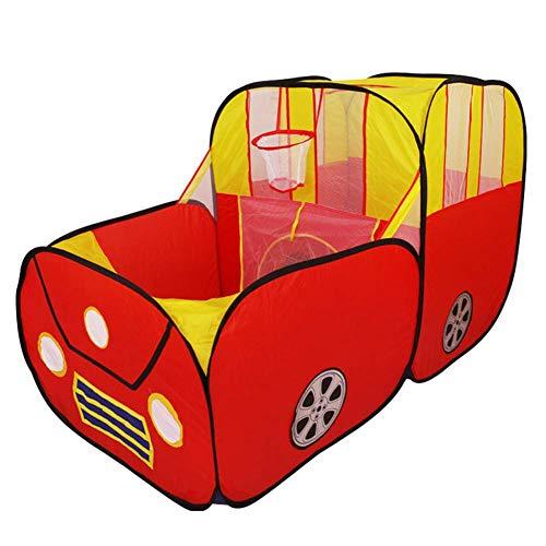 Cxjff Tipi Carpa niños juegan for alquiler de carpa interactiva coche tienda casa de juego entre padres e hijos de dibujos animados cubierta al aire libre plegable portable de los niños teatro for niñ