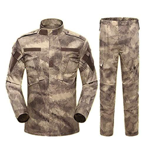 YZRDY Los Hombres del Ejército Militar Uniforme Traje táctico Fuerzas Especiales de Combate del Escudo Bragas de la Ropa de Camuflaje Soldado Militar Combat (Color : Color4 Set, Size : L.)