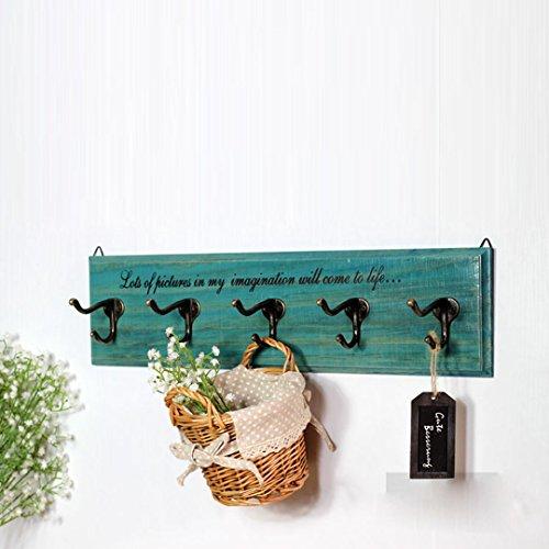 QARYYQ Haken Decoratie Haken Deurslot Haken Europese creatief massief hout woonkamer kledingwinkel kleerhanger wandbehang kledinghaken