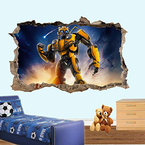 HUGF Wandtattoo Robot bee Wall Sticker Art 3D Poster Decal Mural Decoration