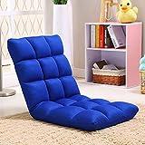 ZHEYANG Sillones Lazy Sofa Plegable Individual Pequeño Sofá Cama Computadora Respaldo Piso Sofá Silla (Color : Blue)