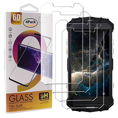 Guran 4 Pezzi Pellicola Protettiva in Vetro Temperato per Doogee S60 / S60 Lite Smartphone 9H Durezza Anti-Impronte HD Alta Trasparenza Pellicola