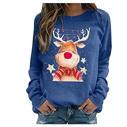 Christmas Womens Striped Shirt Long Plus Size Sweater Cardigans for Women Royal Bell dleeve Ladies top Long Sleeve Summer Shirts for Women Sleeveless Tops Fall Clothing Womens Summer Tops