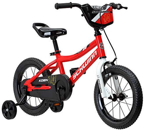Schwinn Koen Boys Bike for Toddlers and Kids, 14-Inch Wheels, Red