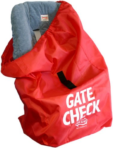 JL Childress Gate Check Bag for Car Seats, Red 2110