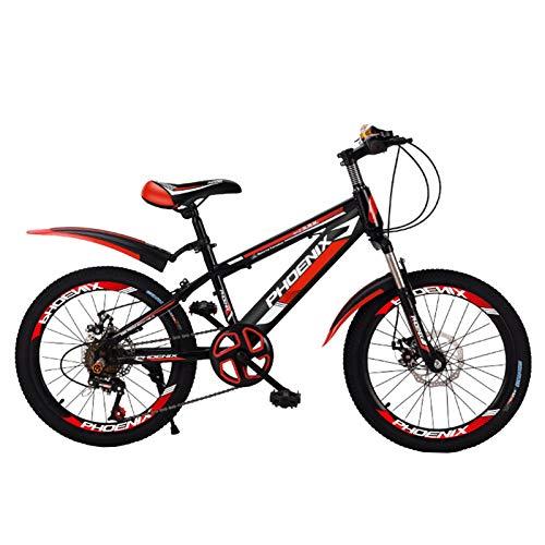 Axdwfd Infantiles Bicicletas Bicicleta de montaña de 18/20 Pulgadas, Bicicleta de Velocidad Variable de Acero Altamente Carbono, Bicicleta de Estudiante con diseño de Soporte Trasero