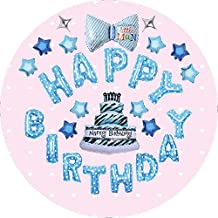 Forzza Happy Birthday Balloons Set in Blue for Party Decoration/Celebration