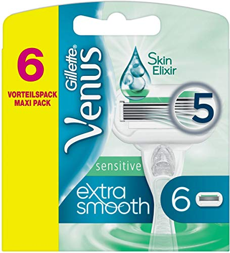 Venus extra smooth sensitive reservemessen, 6 stuks