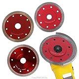 Tivivose Red presionado sinterizado de Malla Turbo Ceramic Tile Granito Mármol Sierra de Diamante cortante de la Cuchilla Rueda de Disco Herramientas Bore Au27 20 Dropship (Blade Length : 115mm)