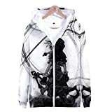 Pullover Hoodie Sweatshirt Sora Aqua Costume Kingdom Hearts Game Cosplay Zip Up Jacket,H,l