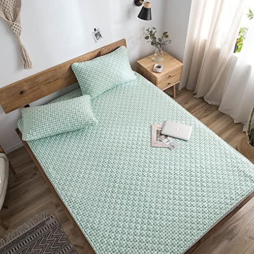 BOLO Sábanas bajeras súper suaves y cómodas de fácil cuidado de polialgodón ropa de cama de lujo, 90 x 190 cm+15 cm