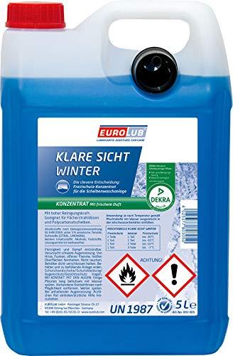 EUROLUB Scheibenfrostschutz KLARE SICHT Winter Konzentrat, 5 Liter