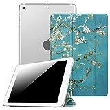 Fintie Funda para iPad Mini 3/2/1 - Trasera Transparente Mate Carcasa Ligera con Función de Soporte y Auto-Reposo/Activación, Flores