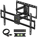 USX MOUNT Full Motion TV Wall Mount for Most 47-84 inch Flat Screen/LED/4K TVs, TV Mount Bracket Dual Swivel Articulating Tilt 6 Arms, Max VESA 600x400mm, Holds up to 132lbs, Arms Up to 16' Wood Stud