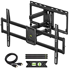 "👍【UNIVERSAL DESIGN】This full motion TV mount fits for most of 47-84inch TVs up to 16"" Wood Stud with VESA size 200*100mm to 600*400mm available. 👍【ADJUSTABLE VIEW COMFORTABLE】This TV bracket with dual articulating arms includes +5° /-15° tilt, ±45°sw..."